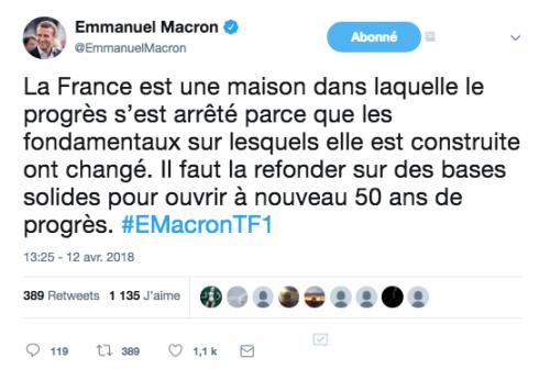 Communication, influence, langage, Macron, Berdhuis, Berd'Huis, Orne, mise en scène,
