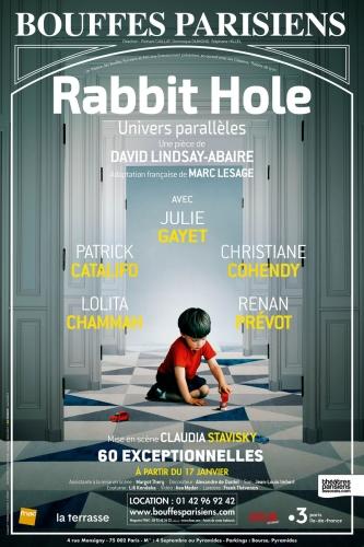 rabbit hole,julie gayet,christiane cohendy,lolita chammah,patrick catalifo,claudia stavisky,renan prévot,théâtre,paris